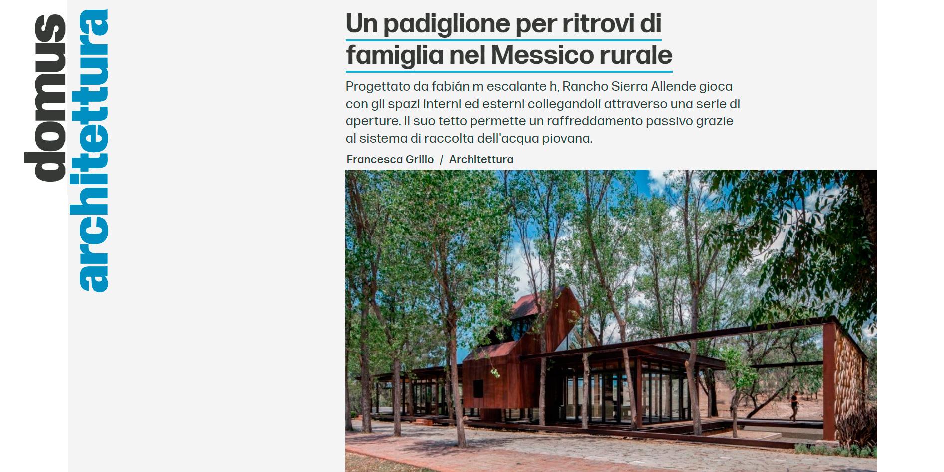 E arquitectos -Publicación en revista DOMUS